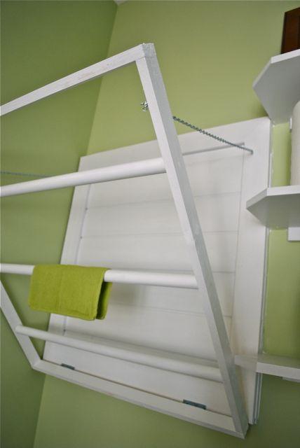 """DIY laundry drying rack"" #laundry Laundry Room Decor and Organizing Tips"