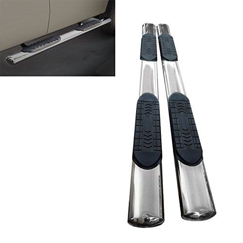 """[Side Step Nerf Bars] -- Mifeier 6"""" Oval S/S Side Step Rails Nerf Bars Running Boards For 09-15 Dodge Ram 1500 Quad Cab (With 2 3/4 Size Rear Doors), Mifeier, Style: 6"""" Inch Round Style Tube + S"""