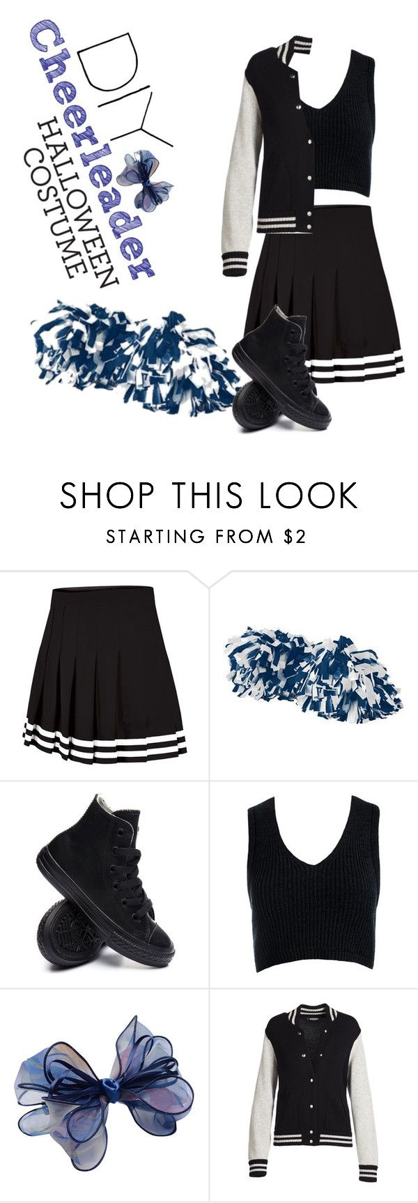 """DIY Cheerleader Halloween Costume"" by starspy ❤ liked on Polyvore featuring Augusta, Converse, Sans Souci, Chicnova Fashion, Marc Jacobs, cheerleader, halloweencostume and DIYHalloween"