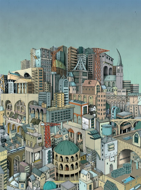 Illustrations by Andy Fletcher, via Behance