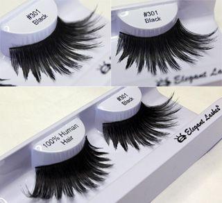 d8fd4ed2f87 thick long black drag diva false eyelashes_Elegant Lashes #301 Black False  Eyelash