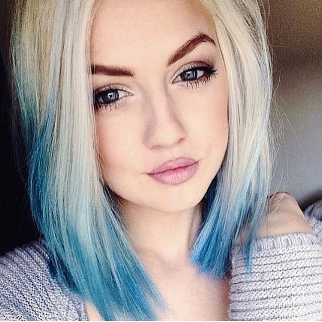 Enjoyable Best 25 Blonde And Blue Hair Ideas On Pinterest Dyed White Hair Short Hairstyles Gunalazisus