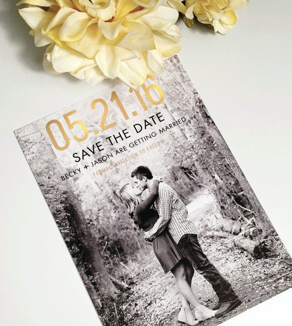 Printable Save the Date Faux Gold Foil Save by MatildaRuthDesigns