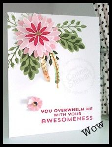 Now or WOW - Stampin' Up! Flower Patch, Flower Fair, photopolymer,  Awesomeness card by Connie Stewart - www.SimplySimpleStamping.com
