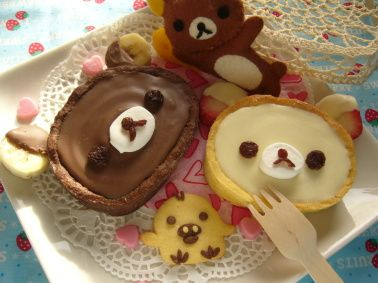 Rilakkuma chocolate tarte