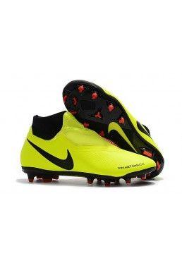 Botas De Futbol Nike Phantom Vision Elite DF FG - Amarillo Negro Rojo 7a784e21d3619