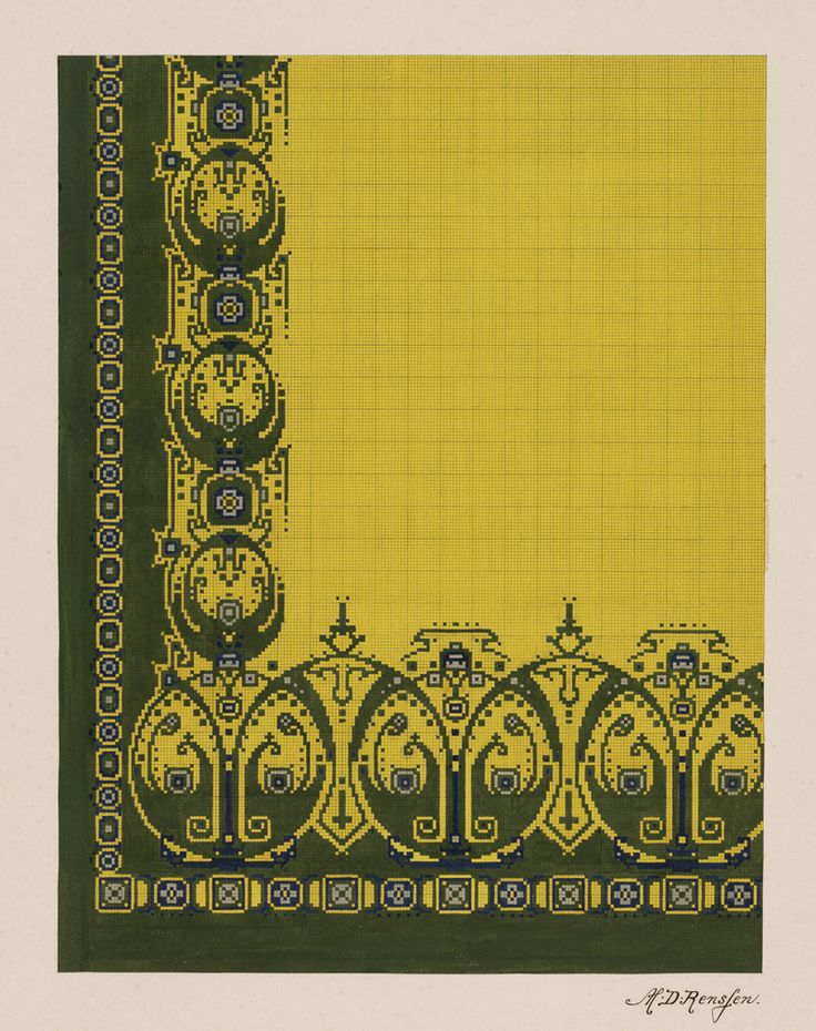 Carpet Design by M.D. Renssen, 1900 / 1929. Deventer Musea, CC BY-SA