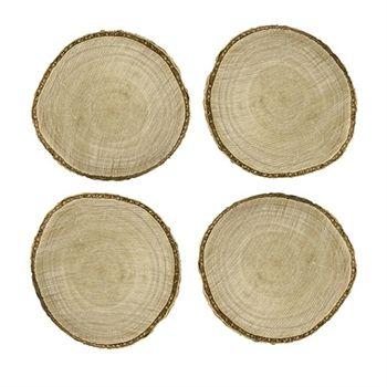 Træ bordkort til at skrive på -