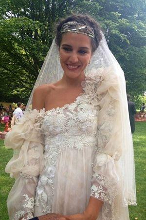 Margherita missoni 39 s italian wedding celebstylewed for Vintage italian wedding dresses