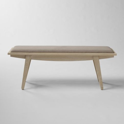 crescent bench ++ west elm