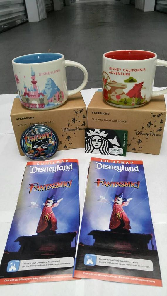 """""""BUY IT NOW""""... ONLY $44.83 ... New STARBUCKS DISNEYLAND And DISNEY CALIFORNIA ADVENTURE (2017) """"You Are Here"""" COMBO COFFEE MUG SET... With """"FREE"""" STARBUCKS $10.00 GIFT CARD .... """"AN ETSY SHOP EXCLUSIVE OFFER"""".... """"Limited Time Only""""... (PLEASE CLICK-ON THE PICTURE FOR MORE DETAILS AND PICTURES) ... #STARBUCKS #DISNEYLAND #CoffeeBean #StarbucksYouAreHereMugs #WDW #WaltDisneyWorld #CoffeeMugs #DisneyMugs #Etsy #EtsySeller #EtsyShope"""