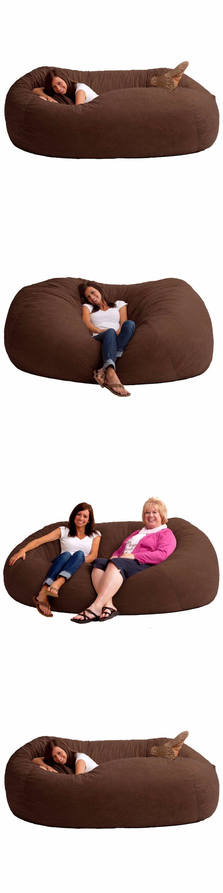 Big joe zip modular armless chair at brookstone buy now - Bean Bags And Inflatables 48319 Huge Bean Bag Ovesized Cheap 7ft Memory Foam Chair Sofa