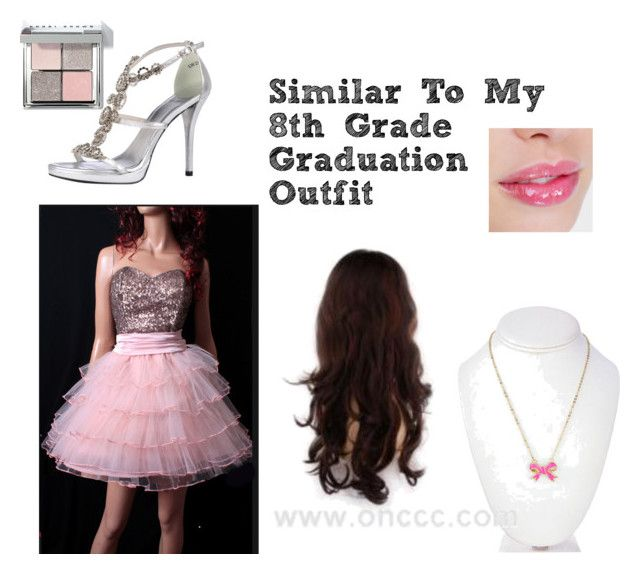 """""""8 th grade graduation outfit"""" by zayna-basic ❤ liked on Polyvore featuring bellezza, Stuart Weitzman, Fornash e Bobbi Brown Cosmetics"""