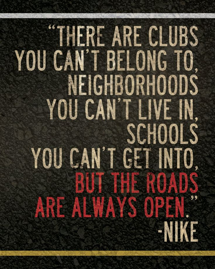 "Nike Running Quote 8"" x 10"" Poster // All Proceeds go to Haiti. $15.00, via Etsy."