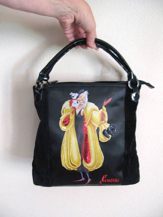 Borsa Crudelia  borsa Disney  Pochette cartoon di piccolibijoux