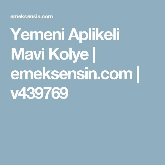 Yemeni Aplikeli Mavi Kolye | emeksensin.com | v439769