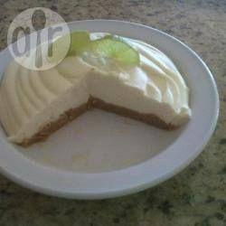 Recipe photo: White chocolate and lime cheesecake