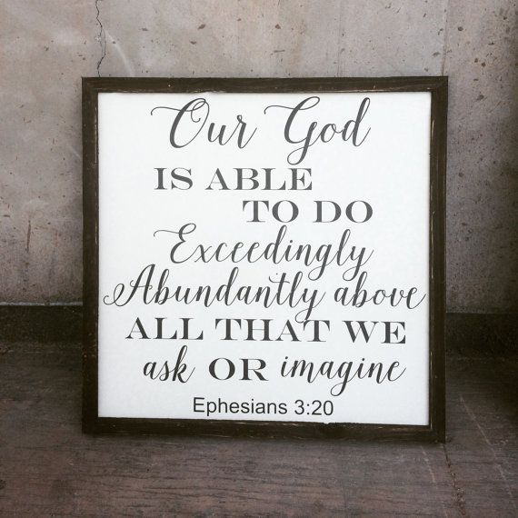 Ephesians 3:20 Sign by TheArtisticWord on Etsy