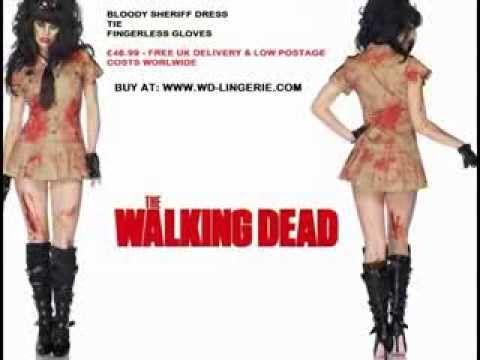 ▶ ZOMBIE SHERIFF COSTUME - WALKING DEAD OUTFIT - BLOODY POLICE HALLOWEEN FANCY DRESS - YouTube