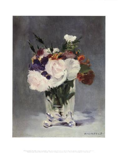 Flowers in a Crystal Vase Art Print