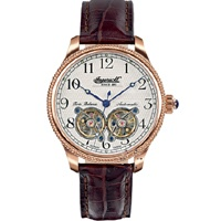 INGERSOLL ASTOR Automatic  Rose Gold Brown Leather Strap