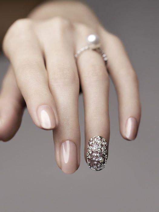 bling nail #wedding #nailart
