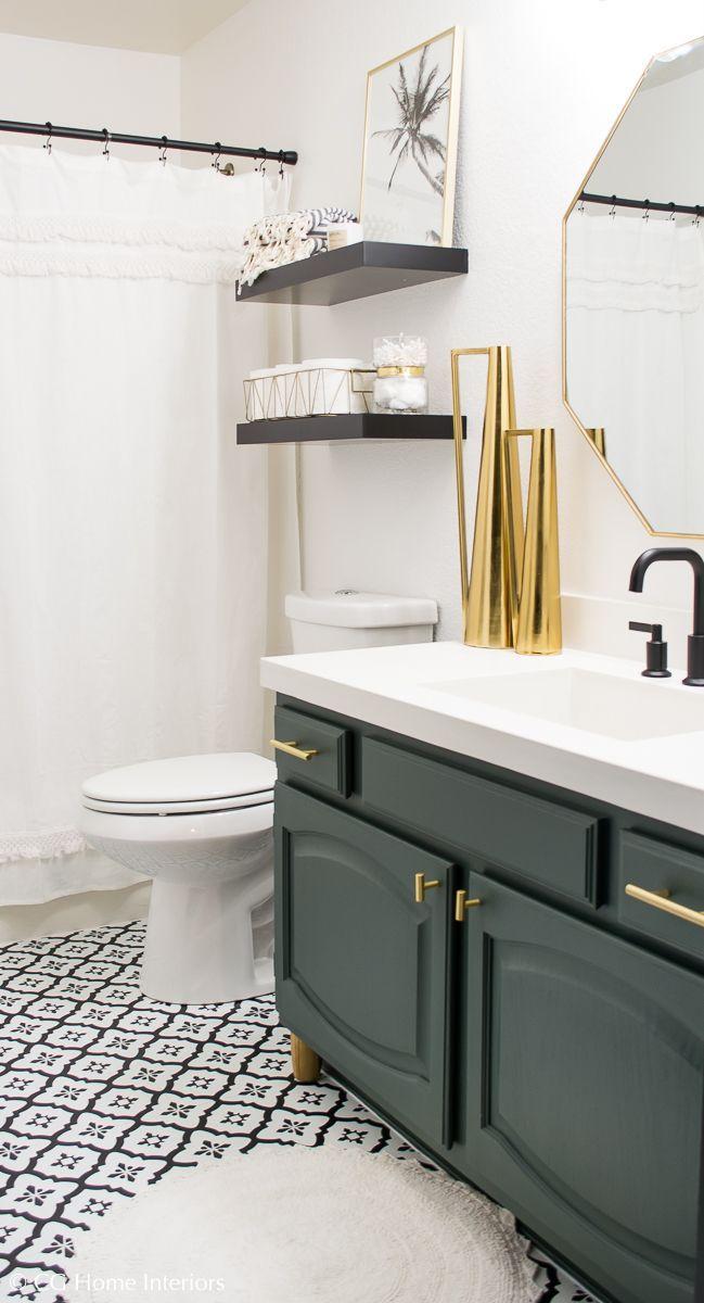 Modern Guest Bathroom Renovation on a Budget \u2013 One Room Challenge