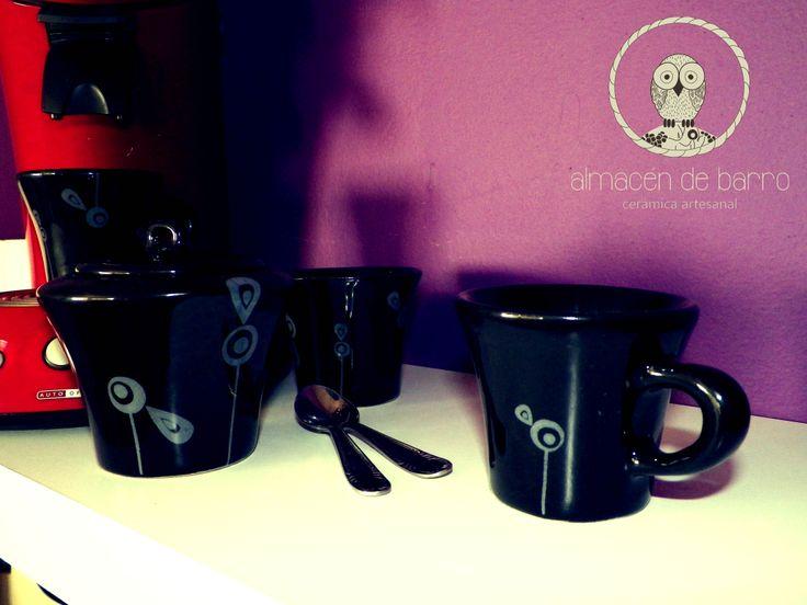 Para el café... tacita y azucarera
