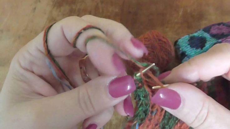 Škola pletení - dokončení oboustranného nákrčníku