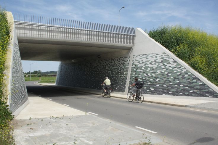 Glazed bricks turned the viaduct in the Netherlands on a nice place.