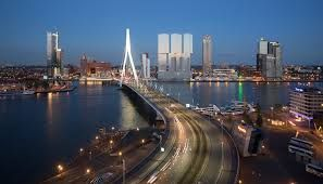 Point of view from Rotterdm city