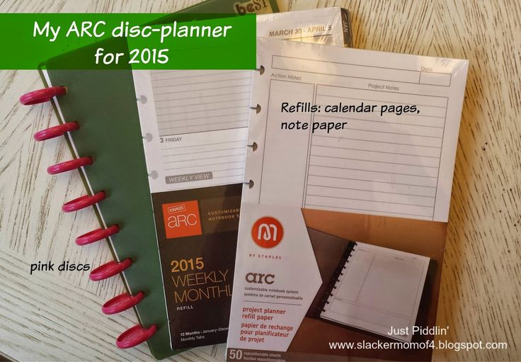 just piddlin': Planning for 2015 w ARC Disc-Planner by Staples