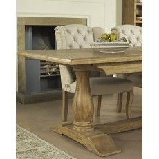 San Agosto Spruce Wood 8 Person Fixed Top Pedestal Dining Table