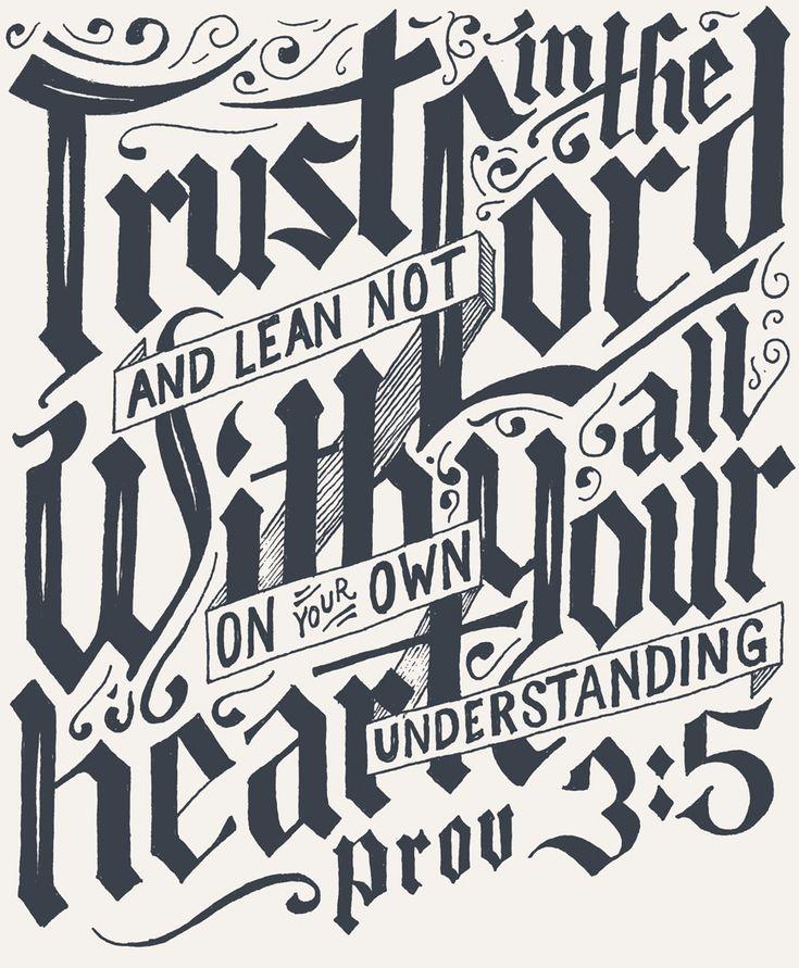Proverbs 3:5 | Trust by Joseph Alessio