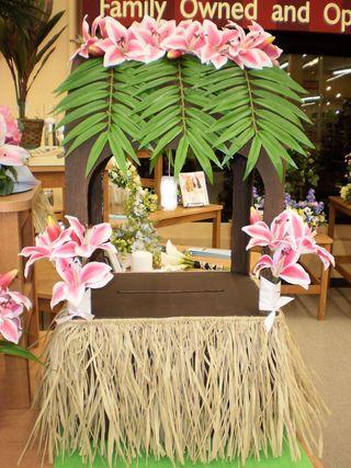 Hawaiian Themed Wishing Well Or Card Box Luau Theme Party Hawaiian Luau Party Luau Decorations
