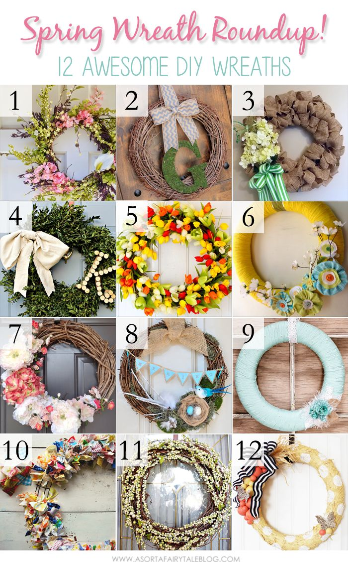 Love this spring wreaths round up by @Mandy Bryant Chiappini !