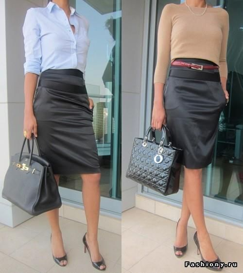 С чем сочетается атласная юбка