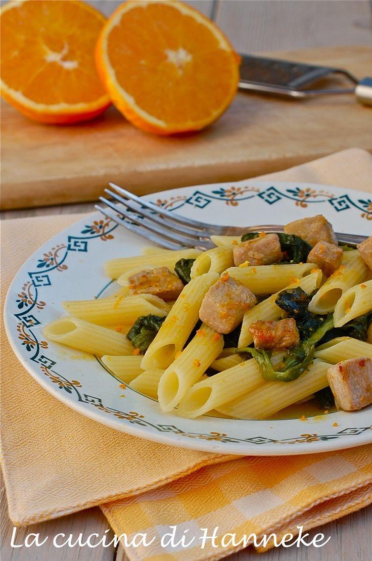 Pasta con cime di rapa e dadolata di tonno all'arancia http://blog.giallozafferano.it/lacucinadihanneke/pasta-con-cime-di-rapa/