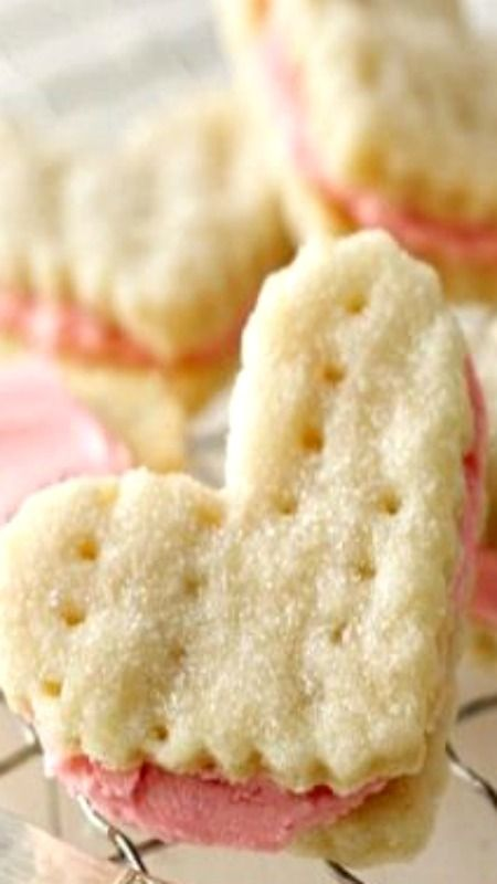 Valentine Cream Wafers ~ melt-in-your-mouth cookie