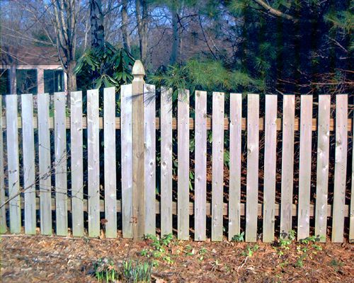 Fence Pictures: Fence Pictures: Flat-Top Picket Fences