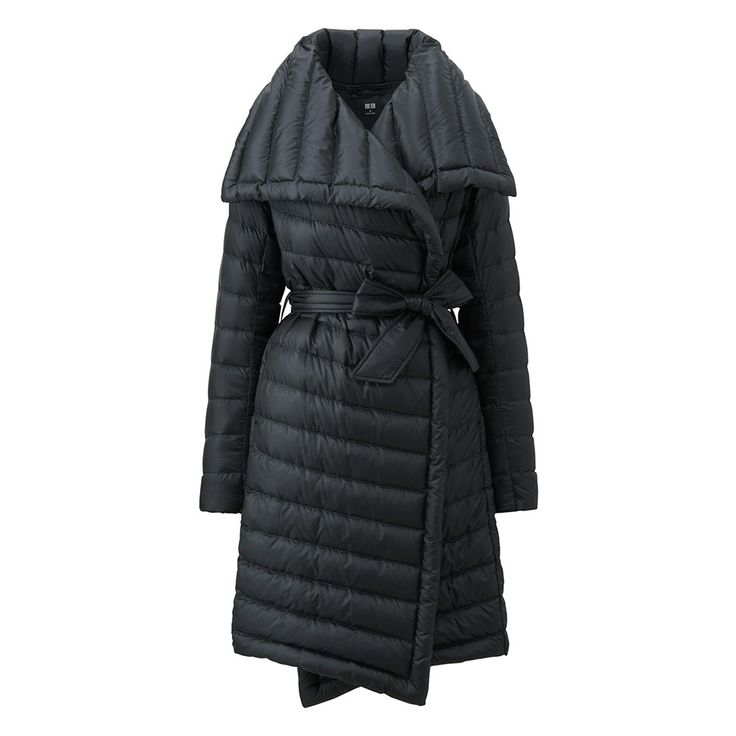 The Sleekest Puffer Around The Sleekest Puffer Around l It's puffy without making you appear bloated, thanks to ultra-light down and a waist-cinching belt. The wide, trench-like collar dresses everything up, making it a great fit for wearing to the office—even an oval one l $120 Uniqlo.com