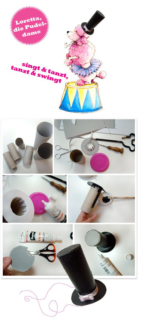sonja-egger upcicling-tinker-cardboard rolls-poodle