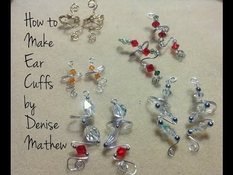How to Make Wire and Bead Ear Cuffs by Denise Mathew - YouTube