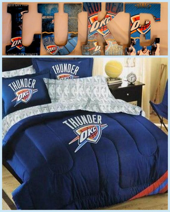 Oklahoma City Thunder Inspired Personalized/Customized Wooden Letters For  Children