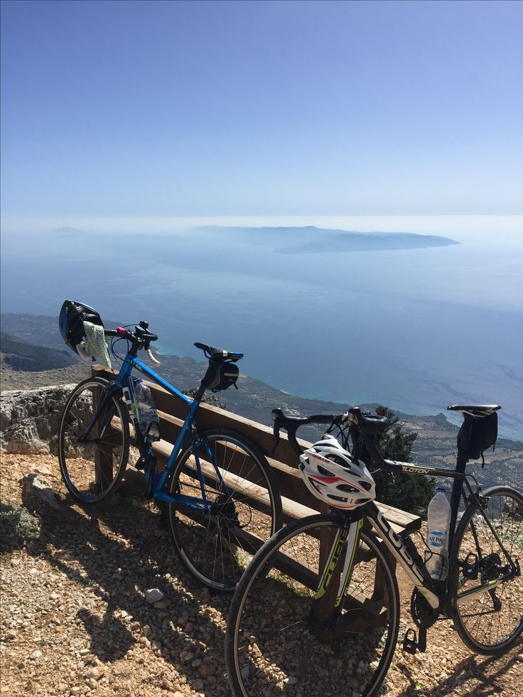 nice view after 22 mile cycle to the top of mount Ainos !
