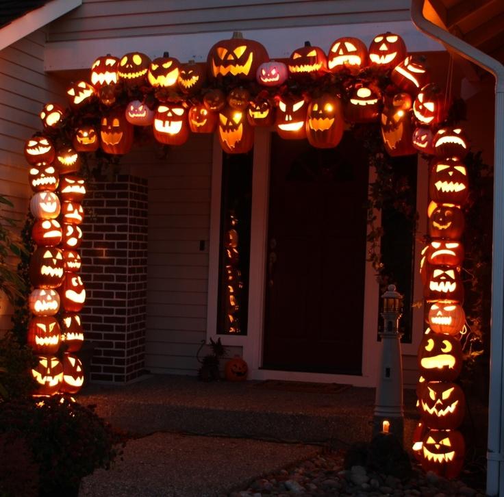 Pumpkin arch autumn pinterest for Archway decoration