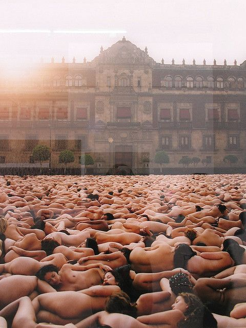 Spencer Tunick. Zócalo, Cd. de México.