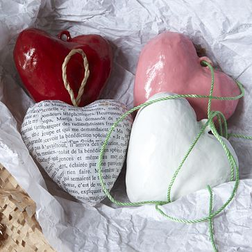 Paper Mache Hearts - another for valentines day - Nelly x