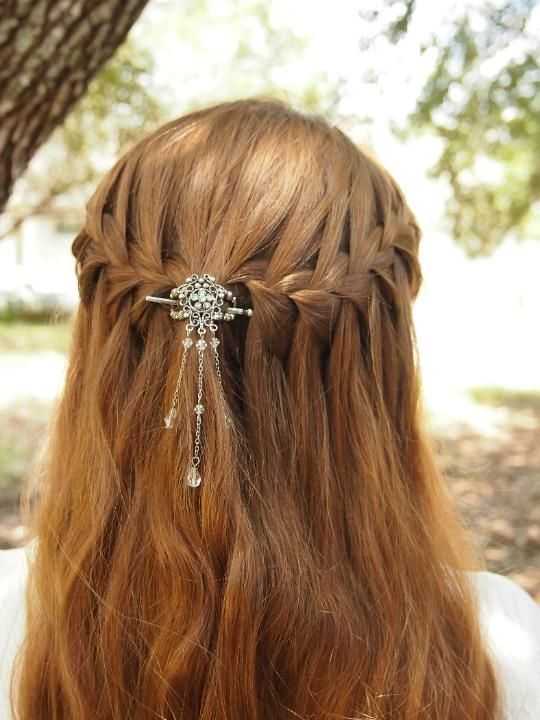 Gorgeous waterfall braids with a Lilla Rose Flexi clip!