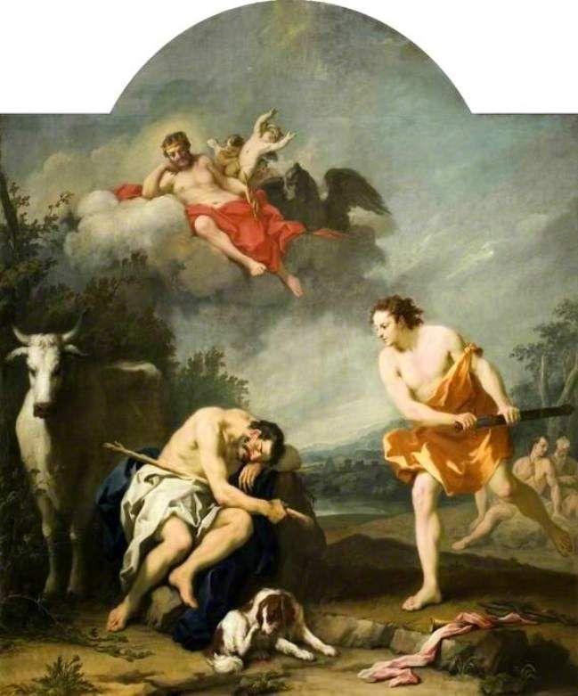 Μορφές και Θέματα της Αρχαίας Ελληνικής Μυθολογίας-Ο Ερμής σκοτώνει τον Άργο. Amigoni, Jacopo, περίπου 1730-1739, λάδι σε μουσαμά.